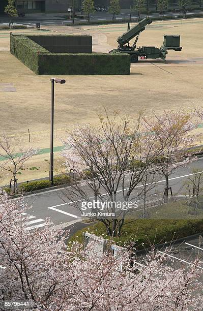 Patriot Advanced Capability3 interceptors are shown at the Ministry of Defense on April 4 2009 in Tokyo Japan North Korea has said it will launch...