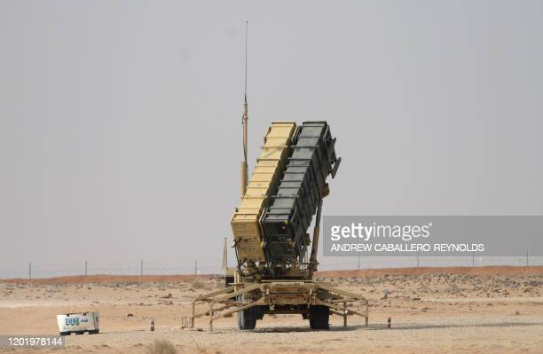 Patriot missile battery is seen near Prince Sultan air base at al-Kharj on February 20, 2020.