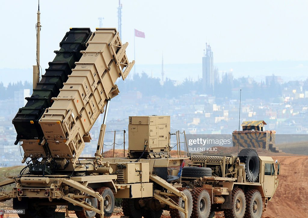 A Patriot missile launcher system is pictured at a Turkish military base in Gaziantep on February 5, 2013. The United States, Germany and the Netherlands committed to send two missile batteries each and up to 400 soldiers to operate them after Ankara asked for help to bolster its air defences against possible missile attack from Syria.