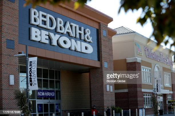 Patriot Place stores Bed Bath & Beyond and Christmas Tree Shops in Foxborough, MA on Oct. 14, 2020.