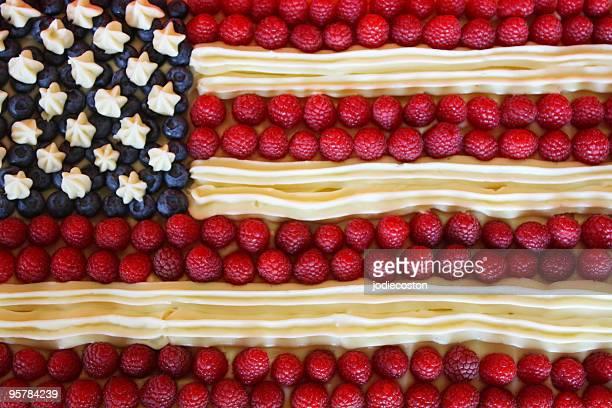 Patriotic American Flag Dessert Cake