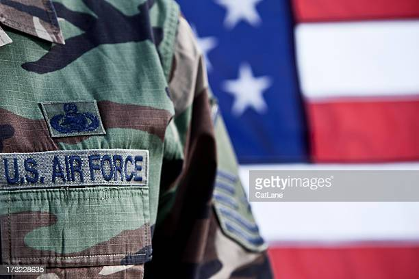 patriotic american soldier - air force stock pictures, royalty-free photos & images