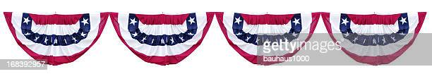 patriotic bunting decorations - election stock pictures, royalty-free photos & images
