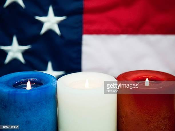 Patriotic Candlelight Vigil - Horizontal