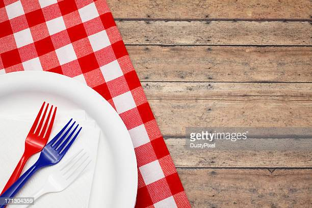 patriotic celebration - paper plate stock photos and pictures