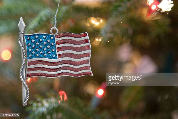 patriotic christmas - patriotic christmas stock pictures, royalty-free photos & images