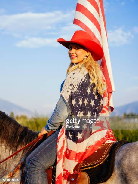 patriotic cowboy lifestyle in utah - beauty queen stock pictures, royalty-free photos & images