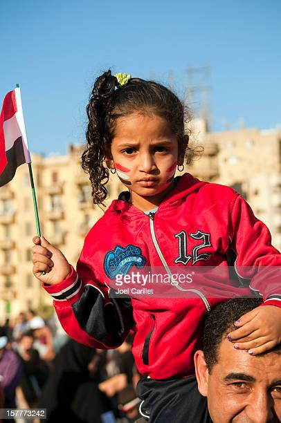 Egyptian girl in Tahrir Square