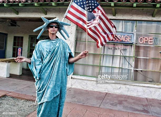 CONTENT] A patriotic flag waver for a Massage Parlor in Twenty Nine Palms California