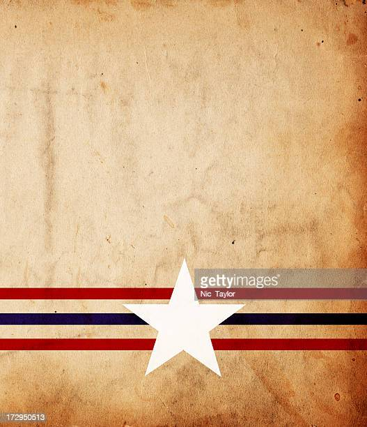 Patriotic grunge paper background with Stars and Stripes