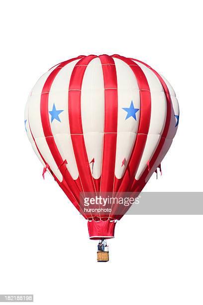 Patriotique en montgolfière