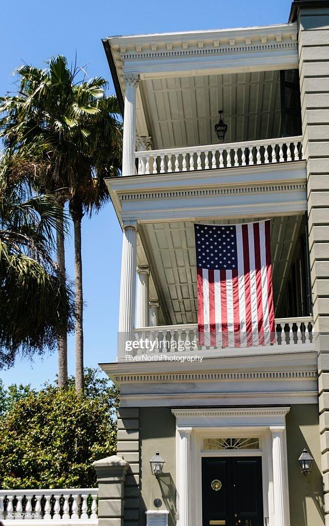 Patriotic House, Charleston : Stock Photo