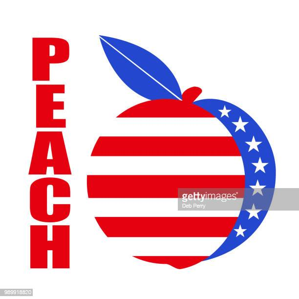 Patriotic peach illustration against white background