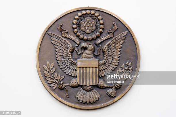 patriotic plaque - insignia stock pictures, royalty-free photos & images