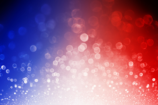Patriotic Red White and Blue Explosion Background 680789648
