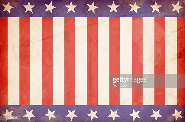 Patriotic Stars and Stripes Background: XXXL Grunge Paper