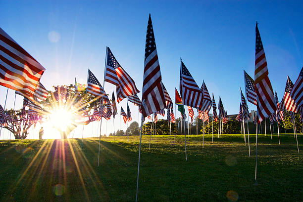Patriotic sunset