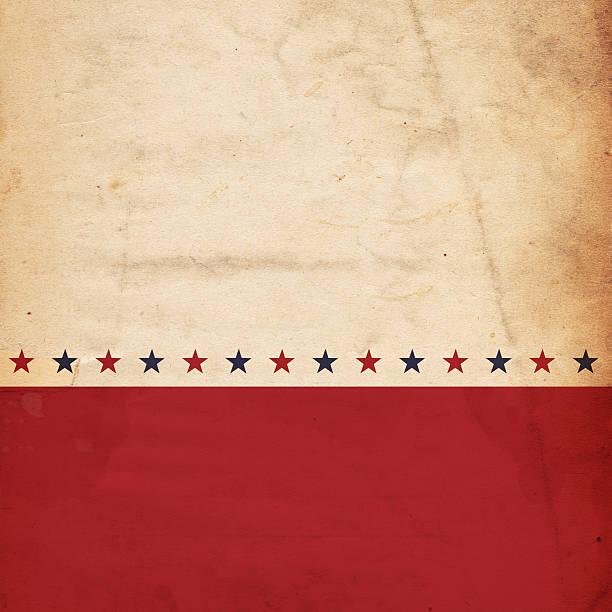 A patriotic, vintage design with stars