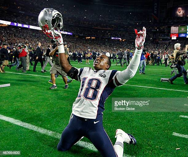 Patriots All Pro Matthew Slater rejoices following the victory The Seattle Seahawks played the New England Patriots in Super Bowl XLIX at the...