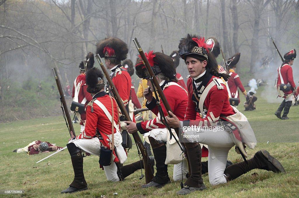 Patriot's Day Reenactment : Stock Photo