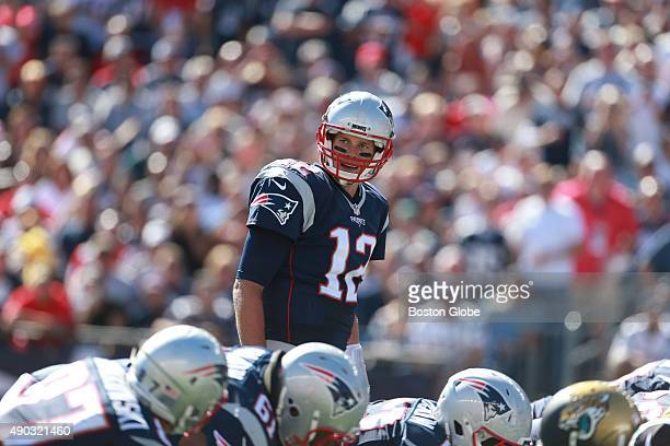 Patriots quarterback Tom Brady in the second quarter as the New England Patriots hosted the Jacksonville Jaguars in a regular season NFL football...