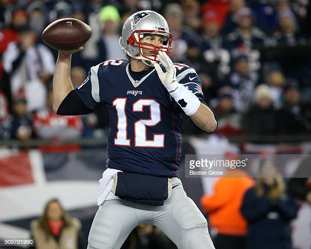Patriots quarterback Tom Brady throws a pass during second quarter action The New England Patriots hosted the Kansas City Chiefs in an AFC divisional...