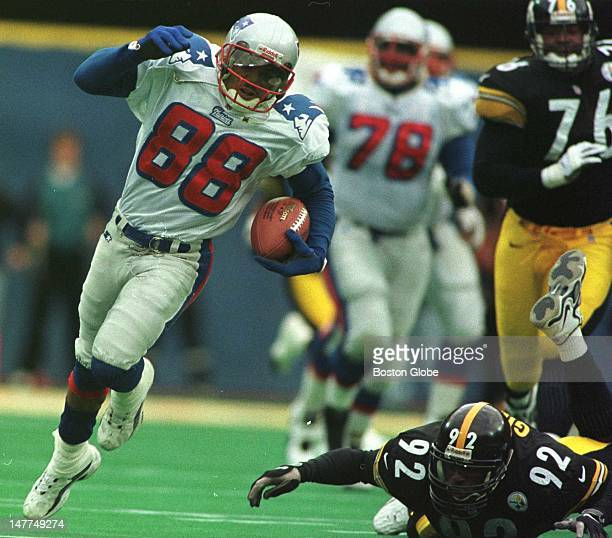 Patriots WR Terry Glenn leaves the Steelers LB Jason Gildon in the dust on the reception play that he got hurt on Gildon though had the last laugh as...