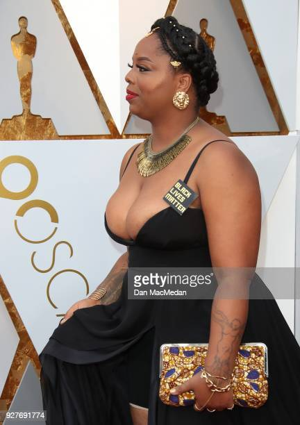 Patrisse Cullors attends the 90th Annual Academy Awards at Hollywood Highland Center on March 4 2018 in Hollywood California