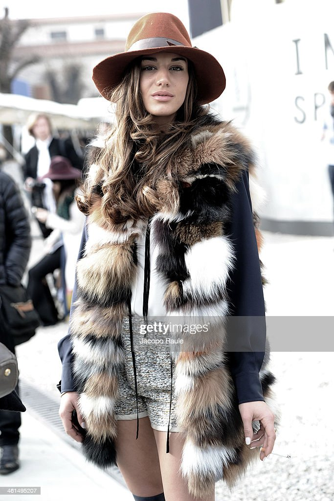 Patrizia Bonetti is seen during Pitti Immagine Uomo 85 on January 9, 2014 in Florence, Italy.