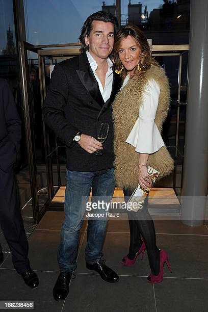 Patrizia D'Asburgo and her husband Dimitri Kunz D'Asburgo attend Ron Gilad for Molteni&C and Salvatore Ferragamo on April 10, 2013 in Milan, Italy.