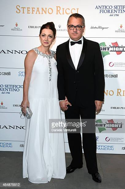 Patrizia Dini and Luca Dini attend 'Celebrity Fight Night In Italy' Gala at the Palazzo Vecchio on September 7 2014 in Florence Italy