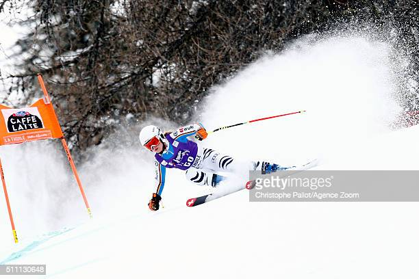 Patrizia Dorsch of Germany competes during the Audi FIS Alpine Ski World Cup Women's Downhill Training on February 18 2016 in La Thuile Italy