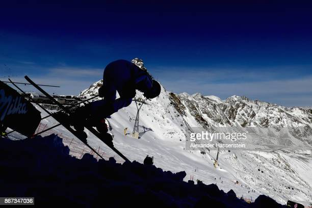 Patrizia Dorsch of Germany competes in the first run of the AUDI FIS Ski World Cup Ladies Giant Slalom on October 28 2017 in Soelden Austria
