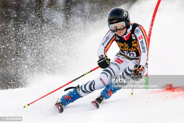Patrizia Dorsch of Germany in action during the Audi FIS Alpine Ski World Cup Women's Parallel Slalom on January 19, 2020 in Sestriere Italy.