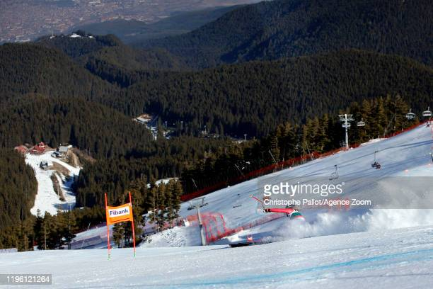 Patrizia Dorsch of Germany in action during the Audi FIS Alpine Ski World Cup Women's Downhill on January 25, 2020 in Bansko Bulgaria.