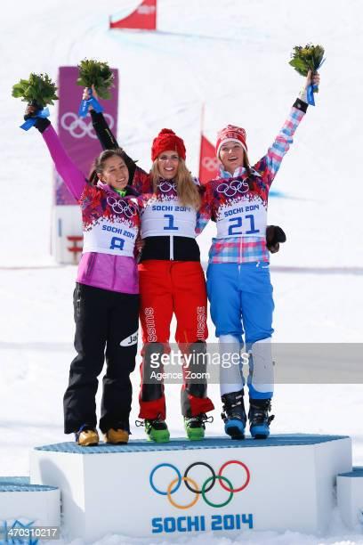 Patrizia Kummer of Switzerland wins the gold medal Tomoka Takeuchi of Japan wins the silver medal Alena Zavarzina of Russia wins the bronze medal...