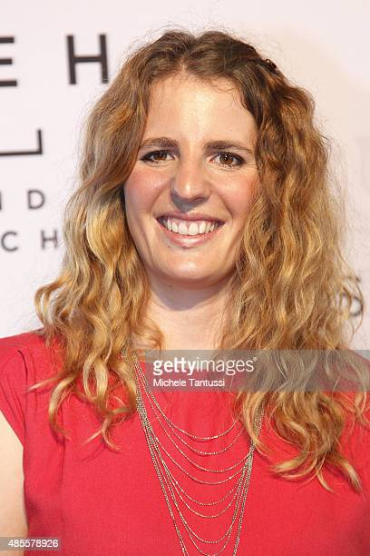 Patrizia Kummer Snowboarder arrives on the red carpet during the opening ceremony at the Kameha Hotel on August 28 2015 in Zurich Switzerland
