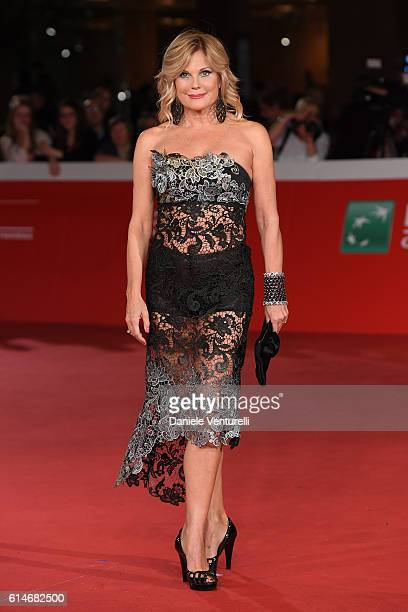 Patrizia Pellegrino walks a red carpet for 'Manchester By The Sea' during the 11th Rome Film Festival at Auditorium Parco Della Musica on October 14...