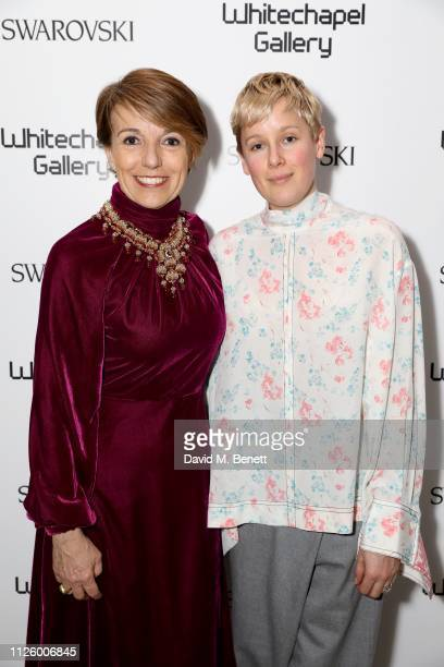 Patrizia Sandretto Re Rebaudengo and Helen Marten attend a glamorous gala dinner at Whitechapel Gallery as Rachel Whiteread is celebrated as the...