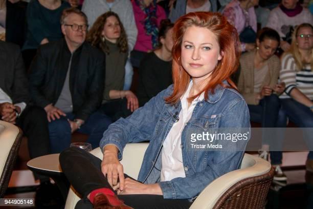 Patrizia Schlosser during the 'Markus Lanz' TV Show on April 11 2018 in Hamburg Germany