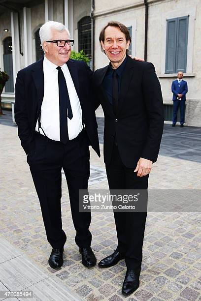 Patrizio Bertelli and Jeff Koons attend the Fondazione Prada Opening on May 3, 2015 in Milan, Italy.