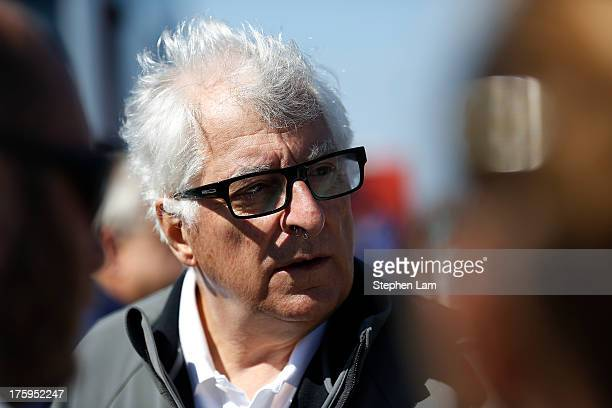 Patrizio Bertelli, Principal of of Team Luna Rossa Challenge, is seen after his team defeated Team Artemis Racing 4-0 in the Louis Vuitton Cup semi...
