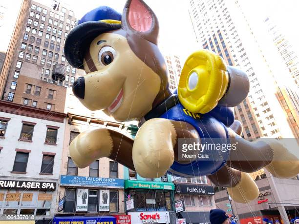 Patrol balloon is seen at the 2018 Macy's Thanksgiving Day Parade on November 22, 2018 in New York City.