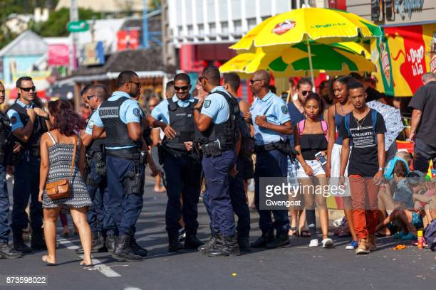 patrol of gendarmes - french overseas territory stock pictures, royalty-free photos & images