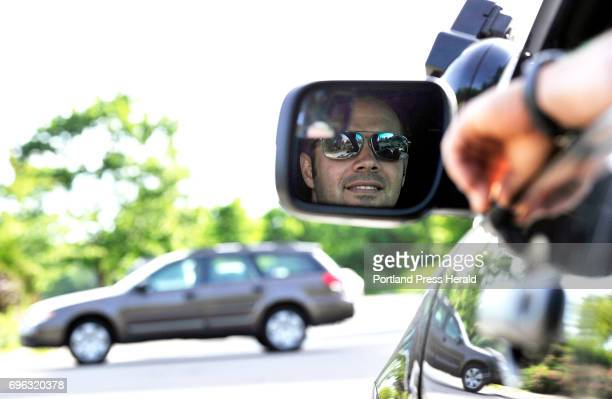Patrol Officer Rocco Navarro watches vehicles to make sure they stop at a nearby crosswalk as pedestrian or cyclists approach Wednesday June 14 2017...