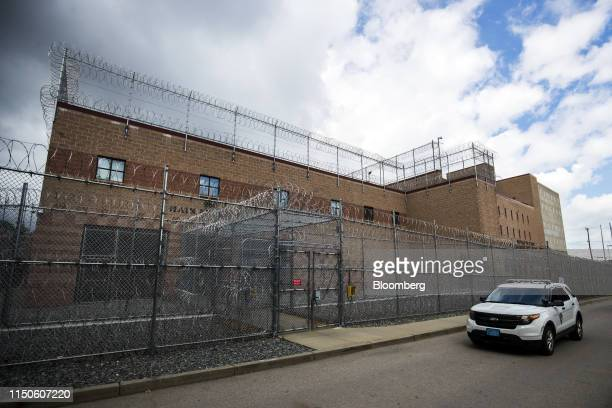 A patrol vehicle sits parked outside the Wyatt Detention Facility in Central Falls Rhode Island US on Thursday June 6 2019 Jails and detention...