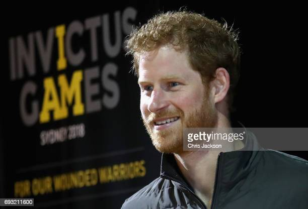 Patron of the Invictus Games Foundation Prince Harry attends an Invictus Sydney 2018 Launch Event at the Overseas Passenger Terminal on June 7 2017...
