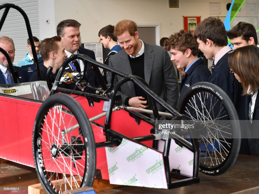Prince Harry Visits Silverstone Circuit