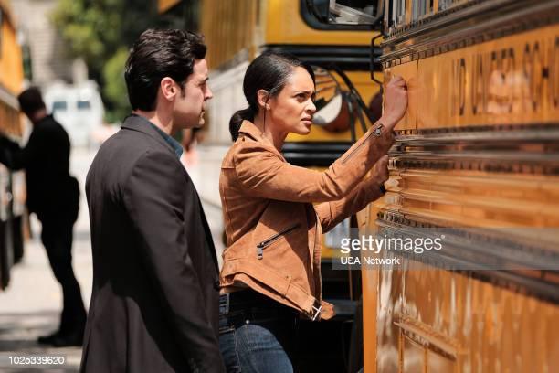 SHOOTER Patron Saint Episode 312 Pictured Jesse Bradford as Harris Downey Cynthia AddaiRobinson as Agent Nadine Memphis