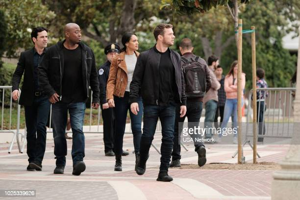 SHOOTER Patron Saint Episode 312 Pictured Jesse Bradford as Harris Downey Omar Epps as Isaac Johnson Cynthia AddaiRobinson as Agent Nadine Memphis...